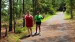 My wife & mom took a walk along my running path